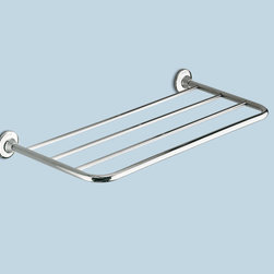 """Ascot Chrome Towel Rack - Houzz contributor Debbie Snider notes,""""This is a nice basic shelf which is suitable for all styles."""""""