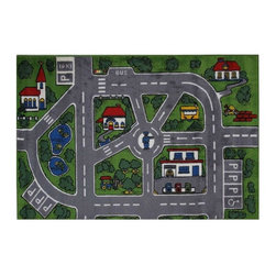 Fun Rugs - Streets Kids Rug - Your child's room is a natural extension of them. Add these innovative designs from LA Rug to spruce up any child's decor.