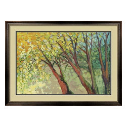Framed An Afternoon at the Park - Jennifer Lommers - Double Mat - High End Frame - Beautifully Framed art print -- An Afternoon at the Park by Jennifer Lommers.