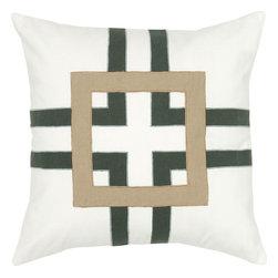 """Rizzy - Rizzy T05654 Pillow, 18"""" x 18"""" - Pillow with Hidden Zipper"""