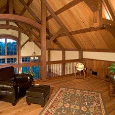 Rustic Family Room by Copper Creek, LLC
