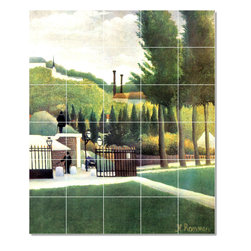 Picture-Tiles, LLC - The Granting Tile Mural By Jean Jacques Rousseau - * MURAL SIZE: 36x30 inch tile mural using (30) 6x6 ceramic tiles-satin finish.