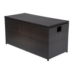 TKC - Outdoor Wicker Patio Storage Chest - This Oversize Wicker Storage Chest is durable, useful, and beautiful.  Use it to store your patio cushions, pillows, and other outdoor accessories.