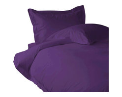 100% Egyptian Cotton 800 TC Duvet Set Solid King, Purple - You are buying Duvet Set, includes 1 Duvet Cover and 2 pillowcases only. A few simple upgrades in the bedroom can create the welcome effect of a new beginning-whether it's January 1st or a Sunday. Such a simple pleasure, really-fresh, clean sheets, fluffy pillows, and cozy comforters. You can feel like a five-star guest in your own home with Sapphire Linens. Fold back the covers, slip into sweet happy dreams, and wake up refreshed. It's a brand-new day.