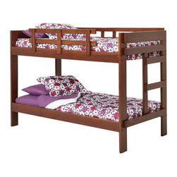 Chelsea Home Furniture - Chelsea Home Twin Over Twin Bunk Bed in Dark - Providing home elegance in upholstery products such as recliners, stationary upholstery, leather, and accent furniture including chairs, chaises, and benches is the most important part of Chelsea Home Furniture's operations. Bringing high quality, classic and traditional designs that remain fresh for generations to customers' homes is no burden, but a love for hospitality and home beauty. The majority of Chelsea Home Furniture's products are made in the USA, while all are sought after throughout the industry and will remain a staple in home furnishings.