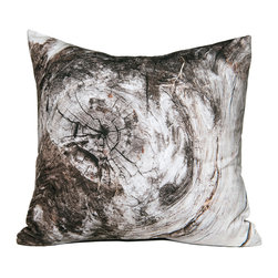 Kuchi Kuu - Maryland Woodland Collection Artisan Pillow - Eco-friendly, artisan pillow covers are created from photographic images found in nature that are applied to organic cotton twill using water-based inks.  Pillow inserts are a 10/90 combination of down and feathers.  The pillow covers can be hand washed in cold water or dry cleaned.