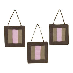 Sweet Jojo Designs - Soho Pink Wall Decor - The Soho Pink Wall Decor by Jojo Design include 3 wall hangings that will add a designers touch to any childs room! These childrens wall hangings are handcrafted with care and will brighten any childs room or nursery.