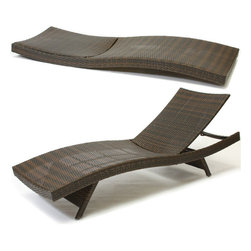 Great Deal Furniture - Lakeport Outdoor Adjustable Chaise Lounge Chair (set of 2) - We guarantee that you have never seen a more beautiful chaise lounge chair than the Lakeport Outdoor Adjustable Chaise Lounge Chair. This chaise lounge chair is weather-resistant and has an adjustable angle back and folding legs for easy stacking. Its natural colors combine with its exotic styling to create a one-of-a-kind design that is perfectly suited for use beside a pool. The smooth, soft wicker is weather resistant and is carefully and meticulously crafted and shaped to form gorgeous curves that not only look great, but also seemingly wrap to your body, creating a luxurious escape to peace and quiet.