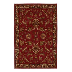 Karastan - Karastan Knightsen 74600-12112 (Walnut Park Red) 8' x 10' Rug - Relaxed traditional motifs updated with color palettes ranging from classic with heirloom appeal to progressive, spicy combinations provide the Knightsen collection with fresh interpretations of timeless designs.