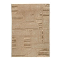 "MA Trading - Contemporary Orlando 5'6""x7'10"" Rectangle Sand Area Rug - The Orlando area rug Collection offers an affordable assortment of Contemporary stylings. Orlando features a blend of natural Sand color. Hand Tufted of 90% Wool  10%  Cotton the Orlando Collection is an intriguing compliment to any decor."