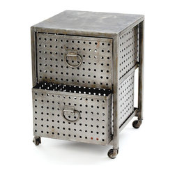 Go Home - Two Drawer Industrial Bin Unit - Two Drawer Industrial Bin Unit. Style: Modern, Width: 18, Depth: 18, Height: 25