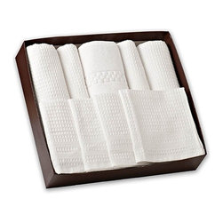 Gilden Tree - Complete Classic Waffle Weave Bath Set - The perfect waffle bath towel set for those who love luxury!