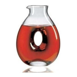 Ravenscroft Crystal - Classic Creek Crystal Wine Decanter - Ravenscroft Torus - Introduce a brand new way of serving up your preferred beverages. This Torus collection decanter has a center cutout and robust rounded edges for a unique take on traditional form. It's made with top quality European crystal and is ideally sized for versatile entertaining options. As featured in Wine & Food and In Style Magazine. Capacity: 36 oz.. 6.75 in. W x 9.5 in. HThe Ravenscroft Crystal Torus Decanter is of a design inspired by centuries old Greek decanters. Hand-made of the finest brilliant lead-free crystal by old world European craftsmen.