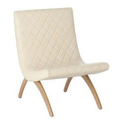 Arteriors Home - Arteriors Home Danforth Ivory Quilted Top Grain Leather Chair - Arteriors Home 2 - If you invite guests to pull up a seat and they pull up this one, they may never go home. It's much more than a chair, it's an easy chair on a steroids. The quilted leather upholstery is stylish and elegant. The curved seating supports and cushions your body. Elevate your decor while you elevate your body.
