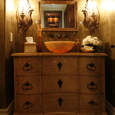 Eclectic Powder Room by Bliss Design