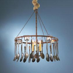 Vintage Silverware Chandelier -