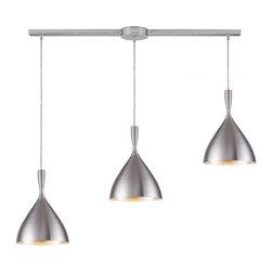Joshua Marshal - Three Light Aluminum Multi Light Pendant - Three Light Aluminum Multi Light Pendant