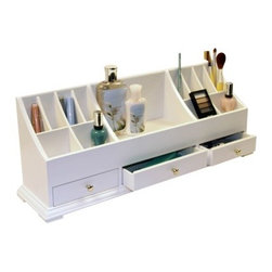 Richards Homewares Personal Organizer, White - I wouldn't mind storing and displaying my most beautiful creams and perfumes in this organizer.