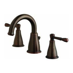 DANZE INC - Lead Law Compliant 2 Handle Widespread Lavatory Oil Rubbed Bronze 1.5 GPM -
