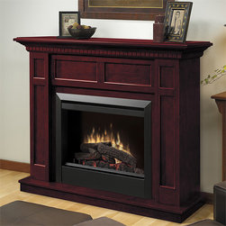 Dimplex - Caprice Cherry Electric Fireplace Mantel Package - DFP4743C - The Dimplex Caprice Cherry Electric Fireplace Mantel Package uses realistic flames and logs to deliver impressive warmth and ambiance instantaneously. Fully adjustable, the Caprice can heat rooms up to 400 square feet via a remote or thermostat.
