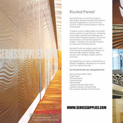 Singapore Wall Panels - Design wall panel are an exciting range of decorative, textured wall panels with patterns carved into their surface. A feature wall in 3D wall panels creates a huge impact, lending an architectural feel to the room at relatively little cost. Learn more about Routed panels and their applications on www.seriessupplies.com