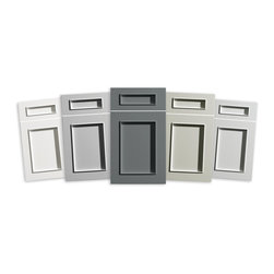 Dura Supreme Cabinetry - Dura Supreme Cabinetry Gray Painted Finish Collection - New Dura Supreme Gray Paint Colors - Dura Supreme Cabinetry's 5 new gray paint colors are Pearl, Silver Mist, Moonstone, ZInc, and Stormy Gray.