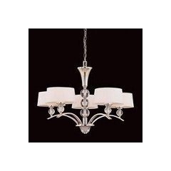 contemporary  Savoy House 1-1035-5-109 5 Light Murren Chandelier, Polished Nickel