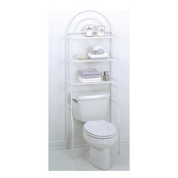 Zenith Products - Zenith 2501W Arch-Metal Spacesaver Multicolor - 2501W - Shop for Bathroom Etageres Racks and Space Savers from Hayneedle.com! The Zenith 2501W Arch-Metal Spacesaver utilizes wasted space by adding three large shelves that rise over your toilet in a uniquely tiered design with decorative arches at the top.About ZenithZenith Products Corporation is America's leading manufacturer of bathroom storage and organizational products for the retail market. Zenith offers a wide line of items and accessories that are both attractive and functional. Customers can choose from bath furniture in a variety of finishes materials sizes and designs. These products are complemented by matching space-savers tank-toppers and storage items that enable homeowners to make maximum use of bathroom space. Zenith helps decorate and organize bath and shower enclosures with its patented Twist-Tight curtain rods and broad range of shower caddies and lotion dispensers available in a wide array of styles and colors. Based in New Castle Del. Zenith products are distributed nationwide through home centers bath specialty shops mass merchants and catalog retailers.