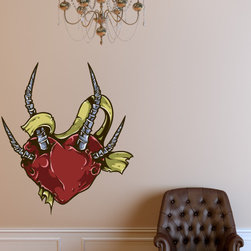 Heart Vinyl Wall Decal HeartUScolor014; 72 in. - Vinyl Wall Decals are an awesome way to bring a room to life!