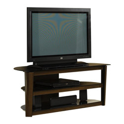 Sauder - Sauder Entertainment Credenza in Black/Dark Cinnabar - Sauder - TV Stands - 408531 - Sure lots of office and home furnishing manufacturers can help you create an organized comfortable and fashionable place to live. But Sauder provides a special kind of furniture that is practical and affordable as well as attractive and enduring. As North America's leading producer of ready-to-assemble furniture we offer more than 500 items that have won national design awards and generated thousands of letters of gratitude from satisfied consumers.