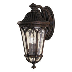 Murray Feiss - Murray Feiss OL5603WAL Regent Court Traditional Outdoor Wall Sconce - The Regency style lantern boasts hand blown clear water glass and all die cast aluminum construction. The rich, walnut finish completes the stately approach.