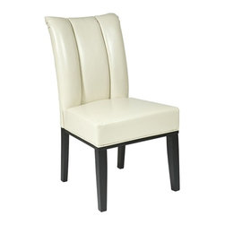 Office Star - Office Star Cream Eco Leather Parsons Chair - OSP Designs Cream Eco Leather Parsons Chair