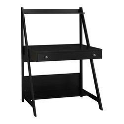 Bush Furniture - Bush Furniture Computer Desk X-30-10727YM - The design is simple, practical and takes up a minimum of space, yet the Bush Alamosa Computer Desk has more than enough features with a top and bottom shelf, a large, pull-out drawer for supplies or can also be used as a keyboard tray - all to keep you organized and working efficiently.