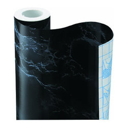 Black Marble Contact Paper - Marble contact paper is a quick, inexpensive and temporary way to add the marble look to a cabinet or tabletop.