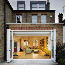 Colorful Chevron House Interior Design in West London by Andy Martin Architects