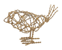 Lazy Susan - Brass Scribble Bird, Small - -8 Piece Bunches