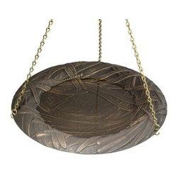 Whitehall Products LLC - Dragonfly Hanging Birdbath - Copper Verdi - Features: