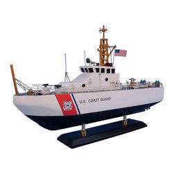 "Handcrafted Model Ships - USCG Coastal Patrol Boat 16"" - Wooden Coast Guard Model Boat - Sold fully assembled"
