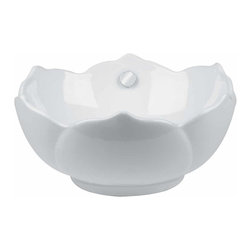 Renovators Supply - Vessel Sinks White Tulip Vessel Sink - A uniquely shaped vessel sink designed to make hand, face, and tooth washing enjoyable. Vitreous grade A china is durable and beautiful, as well as easy to clean.