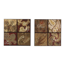 Signature Design by Ashley - Signature Design by Ashley Annice Canvas Wall Art (Set of 2) - Title: AnniceProduct type: Gallery-wrapped canvasStyle: TraditionalFormat: Square