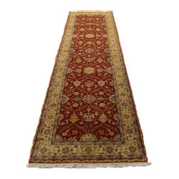 1800-Get-A-Rug - Hand Knotted Rug Wool and Silk Hereke Design Red Oriental Rug Sh7065 - About Fine Oriental