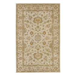 """Surya - Traditional Crowne Sample 1'6""""x1'6"""" Sample Beige-Dark Tan  Area Rug - The Crowne area rug Collection offers an affordable assortment of Traditional stylings. Crowne features a blend of natural Beige-Dark Tan  color. Hand Tufted of 100% Wool the Crowne Collection is an intriguing compliment to any decor."""