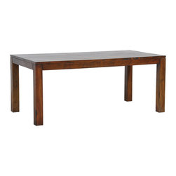 Kosas Collections - Hamshire Hand-finished 60-inch Acacia Wood Dining Table - Give your dining area a rustic vibe with the classically inspired Hamshire dining table. Hand-crafted with durable reclaimed acacia wood,this farmhouse-style table is finished in a Taverna Medium Brown.