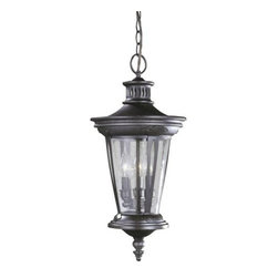 World Imports - World Imports WI74263 3 Light Outdoor Pendant from the Old World Charm Collectio - Three light exterior pendantFeatures Seedy glassRequires 3 candelabra base 60W max bulbsComes with 10 feet of chain and 12 feet of wire
