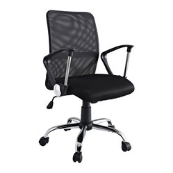 Pilot Breathable Mesh Task Swivel Office Chair in Black