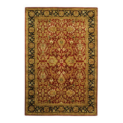 """Safavieh - Persian Legend Maroon/Black Area Rug PL523C - 2'6"""" x 12' - Inspired by the legendary designs of Persia's most prestigious rug-weaving capitals, these extraordinary reproductions recreate some of the most prized antiques in Safavieh's archival collection. Intricate Tabriz, Lavar Kerman and Isfahan hand-knotted motifs are remarkably adapted to these hand-tufted rugs of incomparable quality. The finest New Zealand wool is chosen to achieve the intricate weave of these carpets. With utmost attention to every detail, Safavieh creates its Persian Legends Collection in India to provide consumers an exquisite yet affordable artisan-crafted look."""