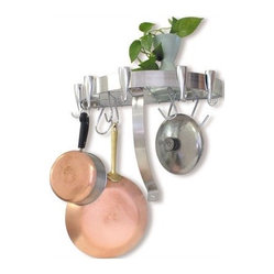 Half Round Wall Mounted Pot Rack