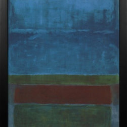 Artcom - Blue, Green, and Brown by Mark Rothko - Blue, Green, and Brown by Mark Rothko is a Framed Art Print set with a GRAMERCY wood frame.