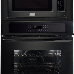 """Frigidaire - Gallery Series FGMC3065KB 30"""" Double Electric Combination Wall Oven With 4.2 Cu. - Frigidaire Gallery 30 MicrowaveElectric Wall Oven Combination comes with PowerPlus Preheat It preheats in less than 6 minutes Pro-Select Controls precise control at your fingertips With True Convection you can easily and evenly bake 200 chicken nugge..."""