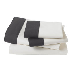 DwellStudio Modern Border Ink Sheet Set - These classic sheets would be a great addition to any room.